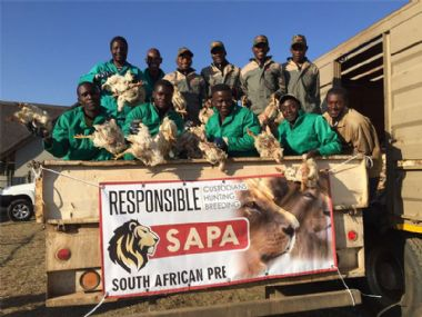 - Staff ready to offload 8 tons of food
